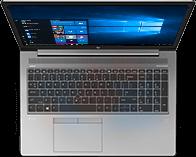 HP ZBook 15u de haut