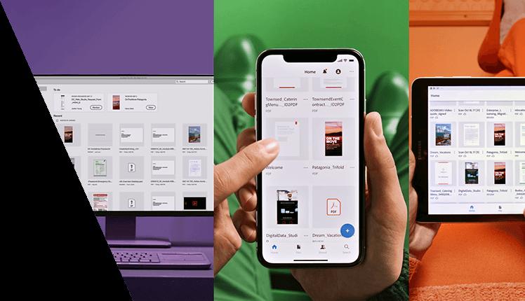 Pc de bureau, smartphone et tablette en utilisation