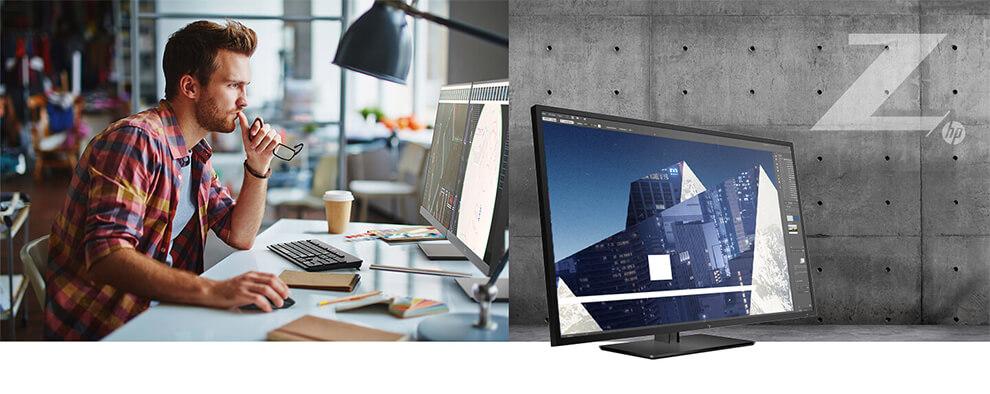 utilisation de l'écran HP Z32 au bureau