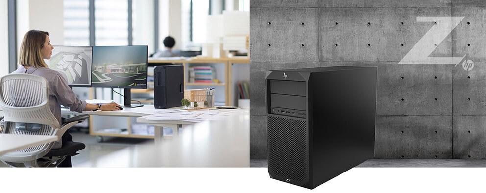 utilisation de la tour HP Z2 en open space